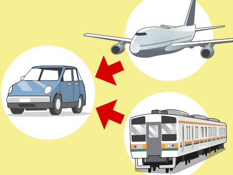 駅や空港と組み合わせ、時間のロスを軽減