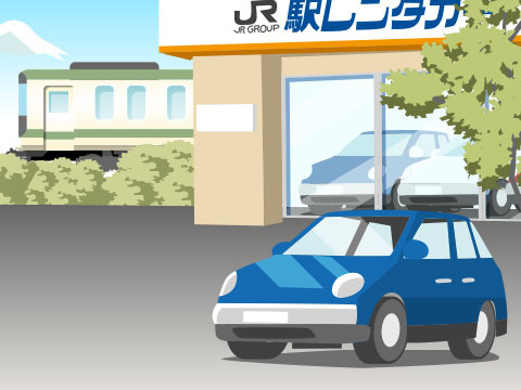 同業他社と比較した駅レンタカー(JR)の特徴