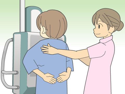 胸部X線検査の撮影方法