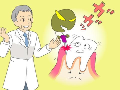 歯周病にかかる原因
