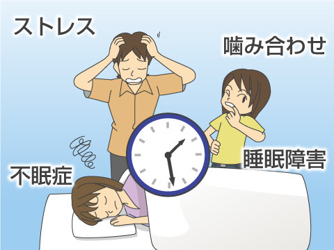 噛み合わせの悪さと睡眠障害