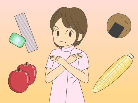 矯正治療中に避けたい食事