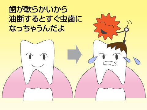 乳児の虫歯の特徴