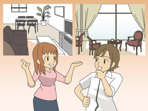 家具を選ぶ前に二人で話し合おう