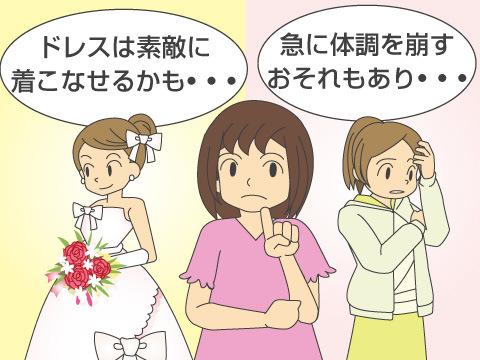 妊娠初期に結婚式を行なう場合