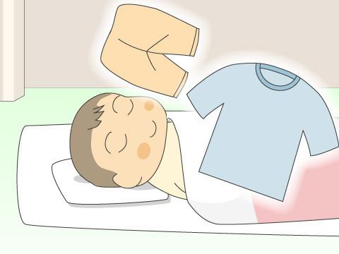 お昼寝用寝具とパジャマ