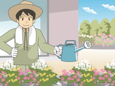 園舎内外の環境を守る用務員