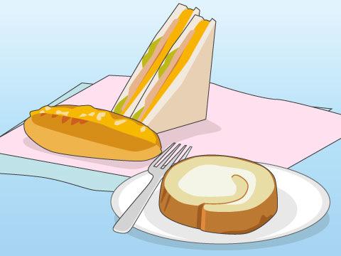 素材、製法にこだわったデザート、パン