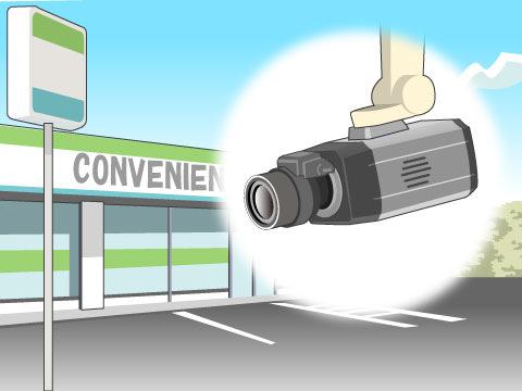 強盗から店を守る