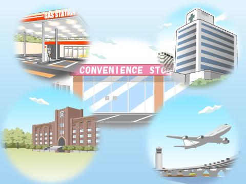 多様化する出店場所、出店事例