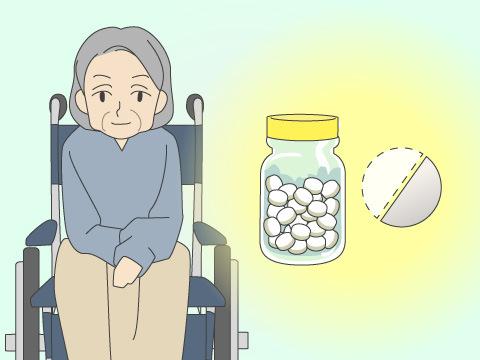 高齢者の薬は少なめで服用する