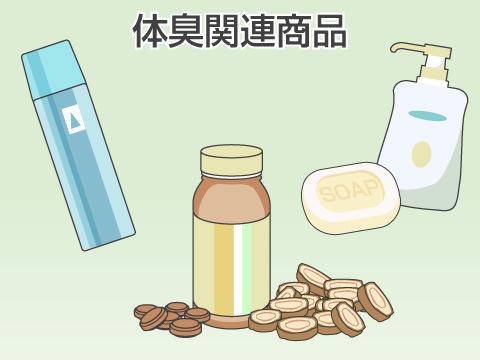ドラッグストアで購入できる体臭関連商品