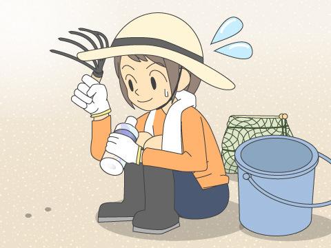 潮干狩りに出かけるときの注意点