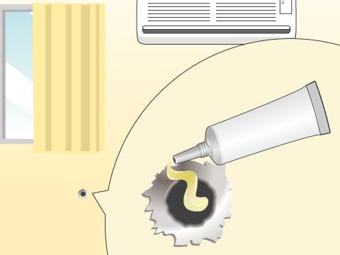 画鋲やクギの穴の補修