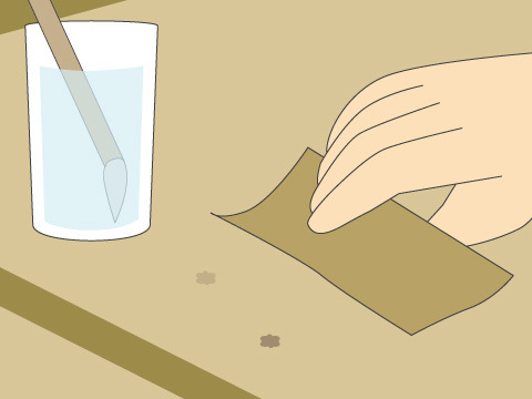 タバコの焦げ跡を補修する