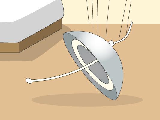 照明器具の落下防止対策