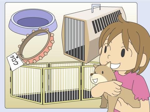 室内飼育の準備