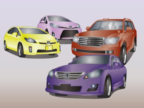 トヨタの代表的な車種