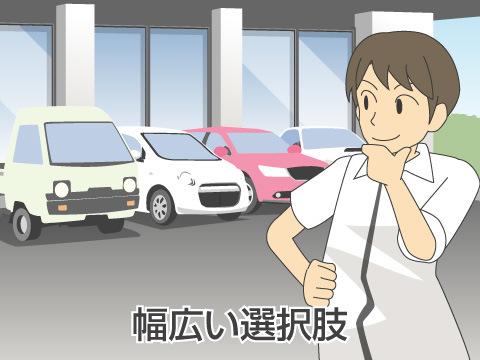 幅広い中古車の選択肢