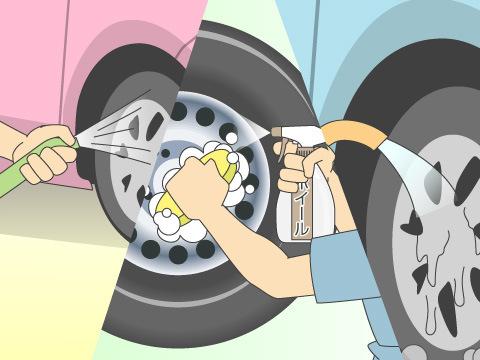 タイヤ・ホイール洗浄の手順