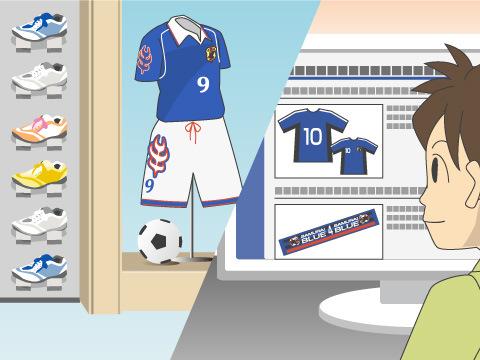 サッカー専門店とそれぞれの特徴