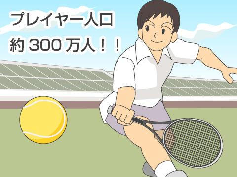 テニス人口は約300万人