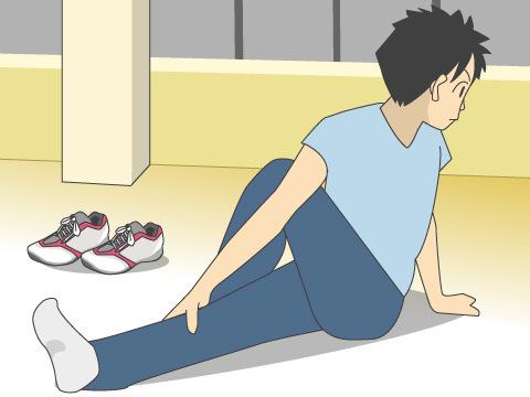 ランニング前に行なう基本的なストレッチ
