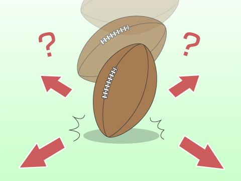 楕円球のラグビーボール