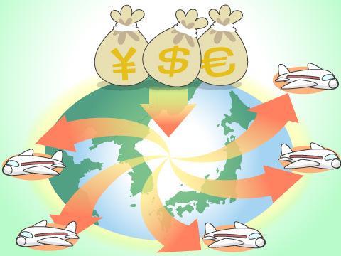 アジアやヨーロッパのハブ空港