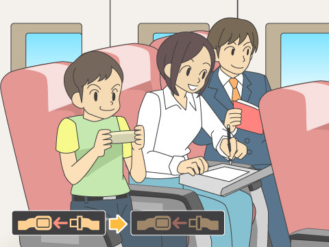 機内で快適に過ごすために
