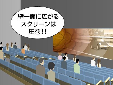 日本最大級のスクリーンで未知なる映像を体験