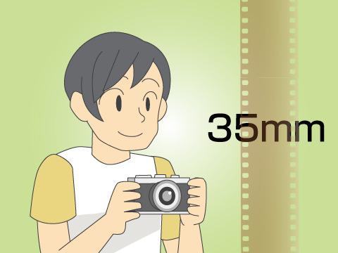 映画のフィルムは「35mm」