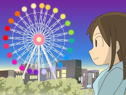 夜を彩るイルミネーション付き観覧車は日本生まれ