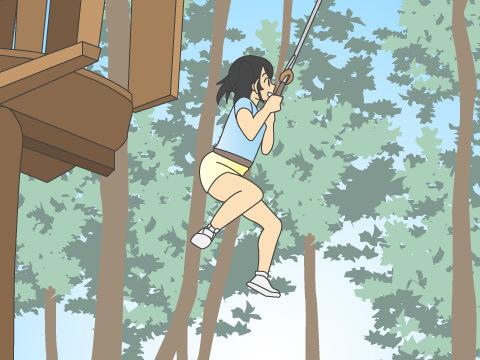 【スィートグラスアドベンチャー】大人も子供も冒険の森へ