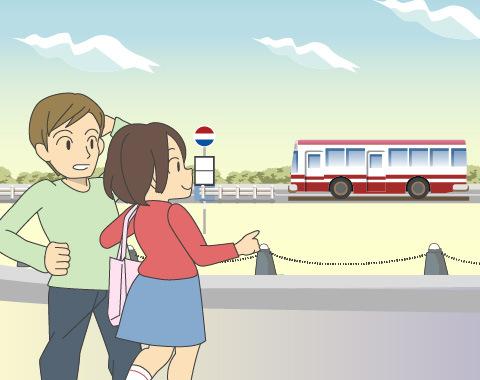 シャトルバスや高速バスの利用