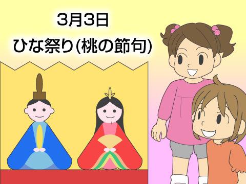 女の子の成長を願うひな祭り