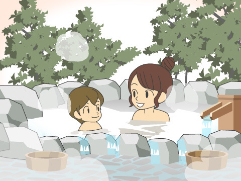 湯船からお湯があふれているか