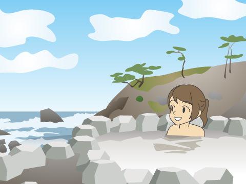 【南紀勝浦温泉】迫力ある露天風呂が魅力(和歌山県)