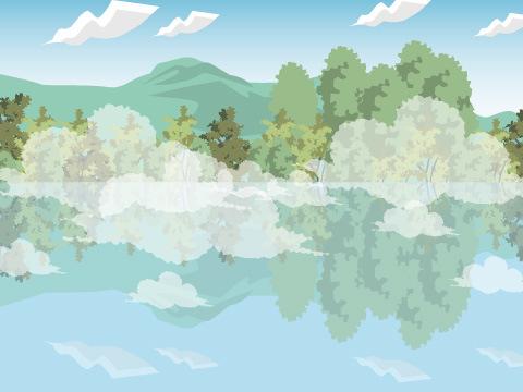 温泉が湧く金鱗湖