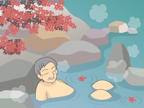 切明温泉「河原の野天風呂」(長野県)