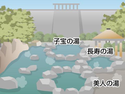湯原温泉「砂湯」(岡山県)