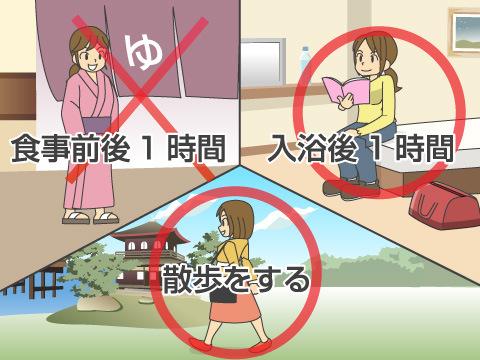 湯治生活に関する注意事項