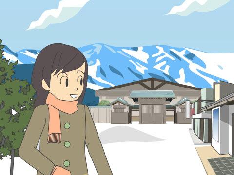 銀山温泉の和風旅館街(山形県)