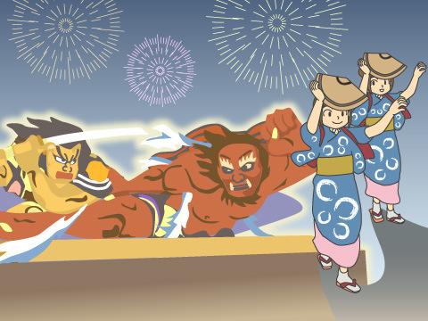 浅虫温泉のねぶた祭り(青森県)
