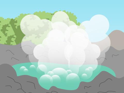 玉川温泉の源泉「大噴」 (秋田県)