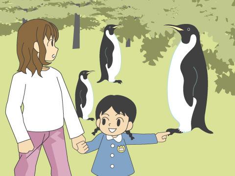人気者も勢ぞろい! ペンギンの驚きの動きに子どもたちも目が点に
