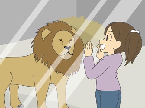 ライオンがすぐ隣にやってくる! 大迫力のレオガラス展示