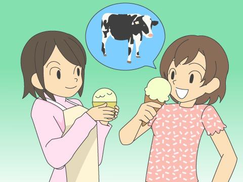 お土産は、新鮮な乳製品