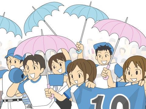 晴れの日も、傘を持って神宮へ