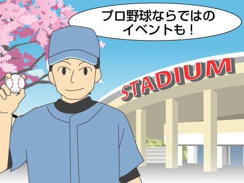 プロ野球の試合で行なわれるイベント